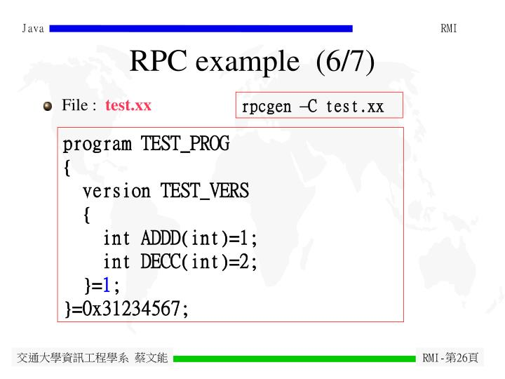 RPC example  (6/7)