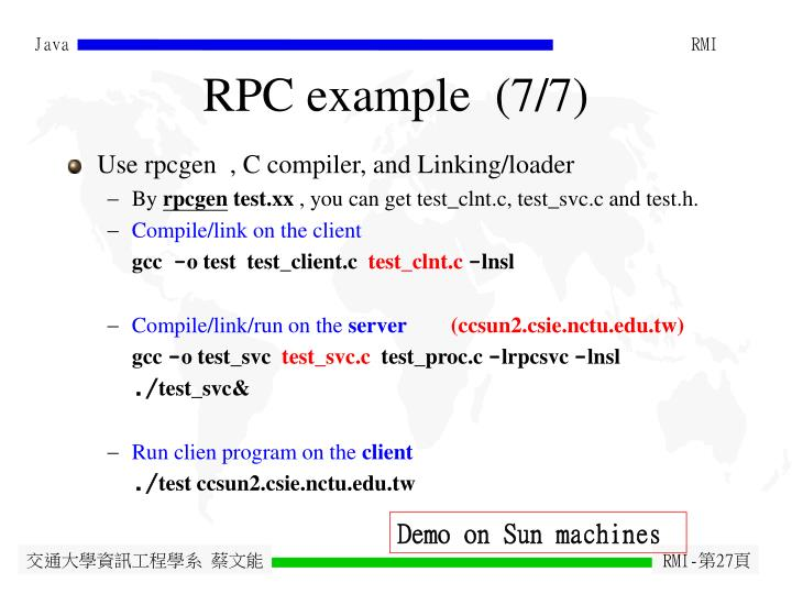 RPC example  (7/7)