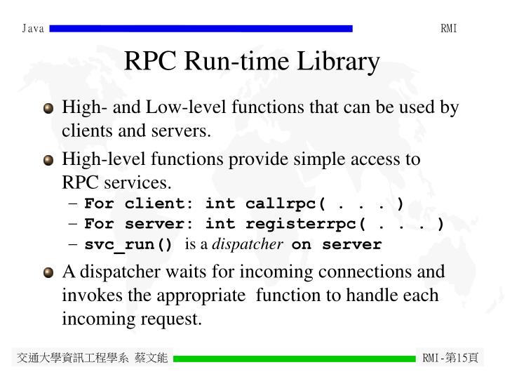 RPC Run-time Library