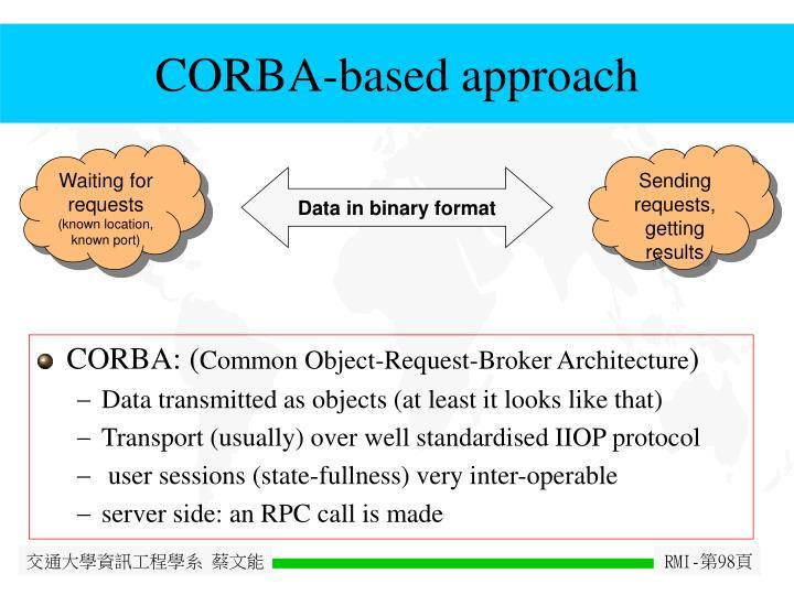 CORBA-based approach