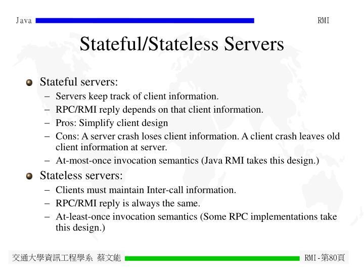 Stateful/Stateless Servers