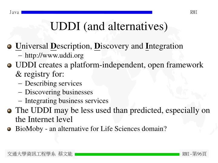 UDDI (and alternatives)
