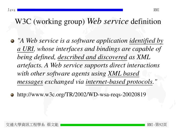 W3C (working group)