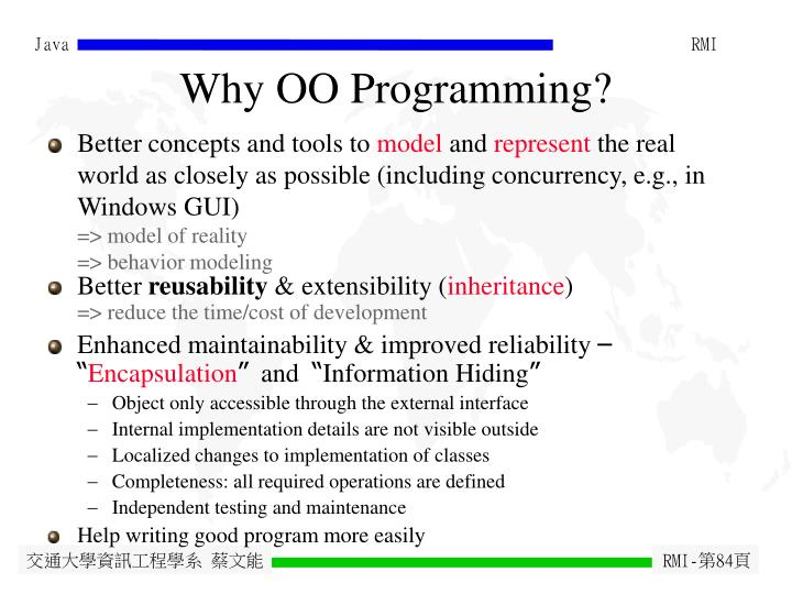 Why OO Programming?