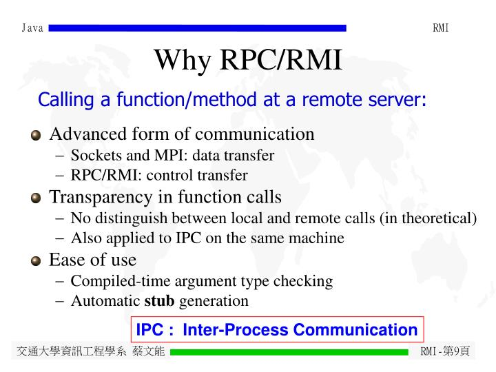 Why RPC/RMI