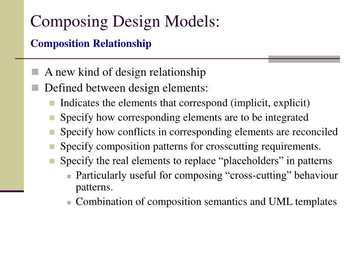 Composing Design Models: