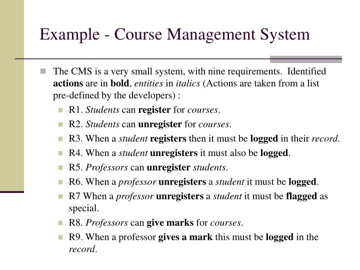 Example - Course Management System