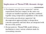 implications of theme uml thematic design