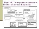 theme uml decomposition of management resources into different design models