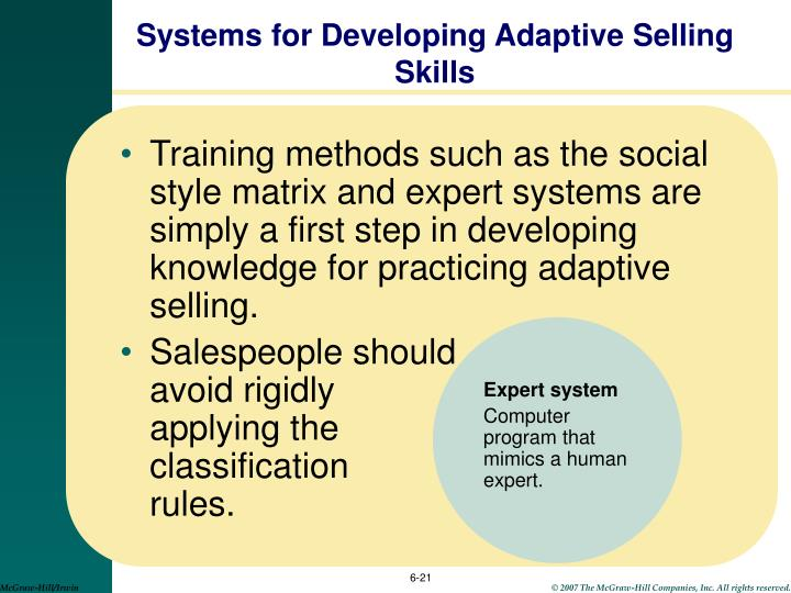 Systems for Developing Adaptive Selling Skills