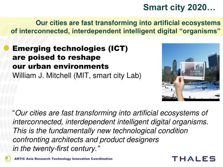Smart city 2020…