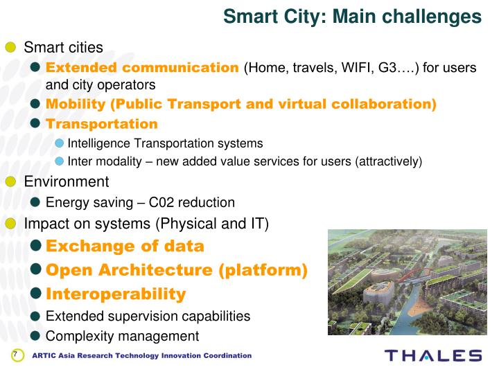 Smart City: Main challenges