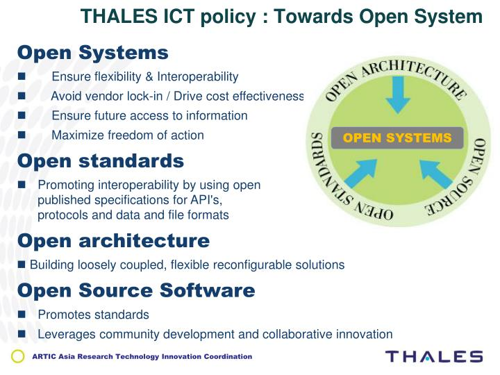 THALES ICT policy : Towards Open System