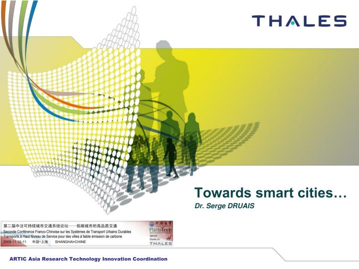 Towards smart cities dr serge druais