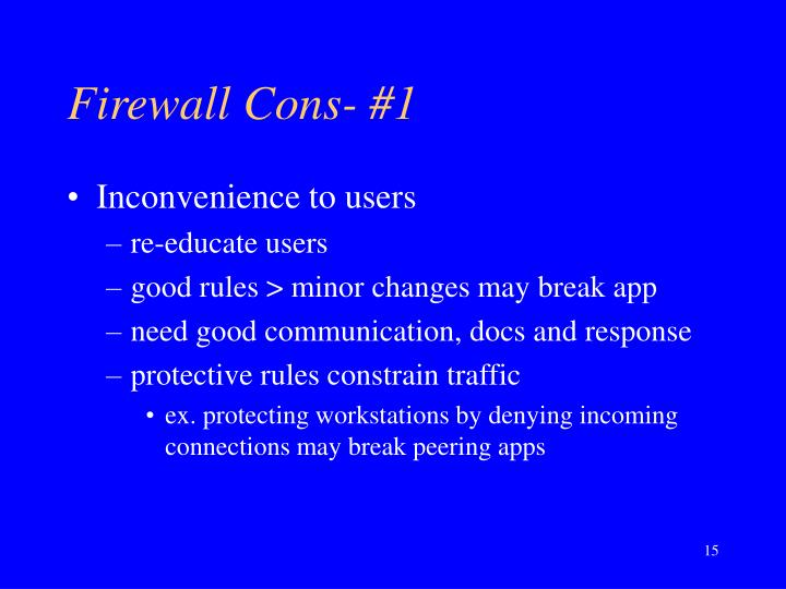 Firewall Cons- #1
