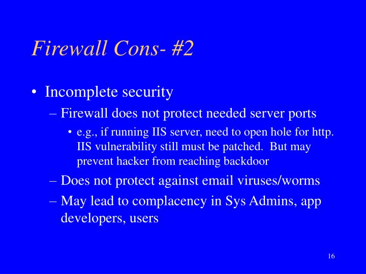 Firewall Cons- #2