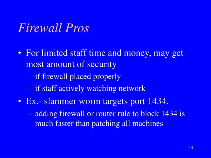 Firewall Pros