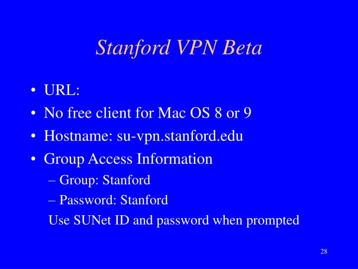 Stanford VPN Beta