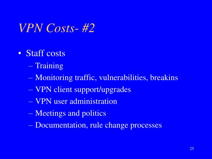 VPN Costs- #2