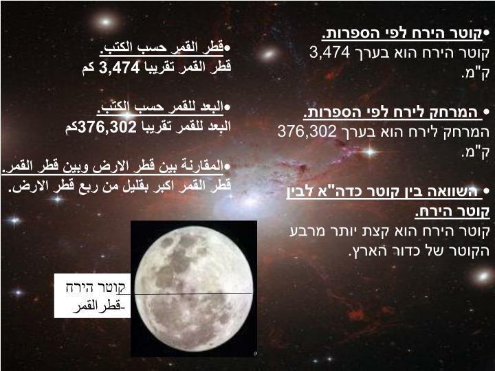 קוטר הירח