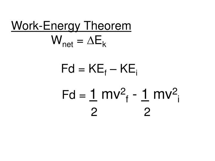 Work-Energy Theorem