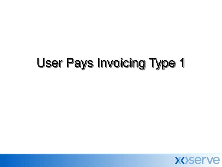 user pays invoicing type 1