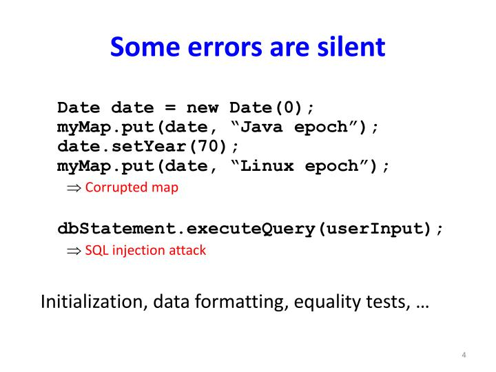 Some errors are silent