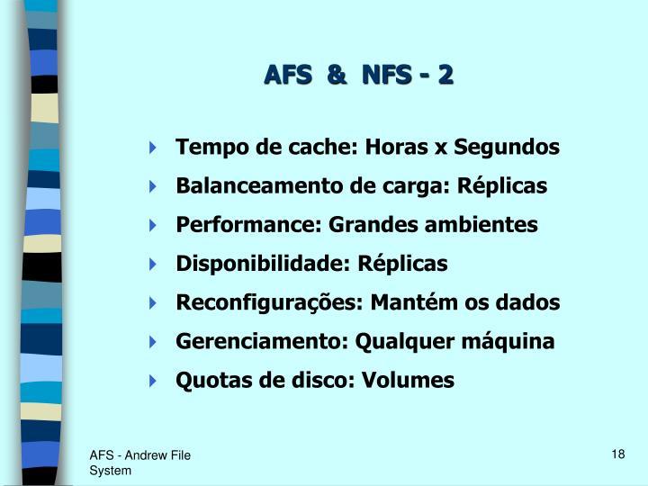 AFS  &  NFS - 2