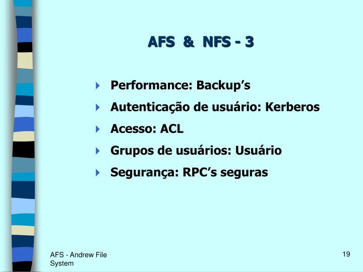 AFS  &  NFS - 3