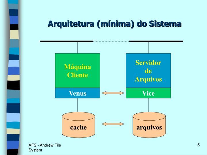Arquitetura (mínima) do Sistema