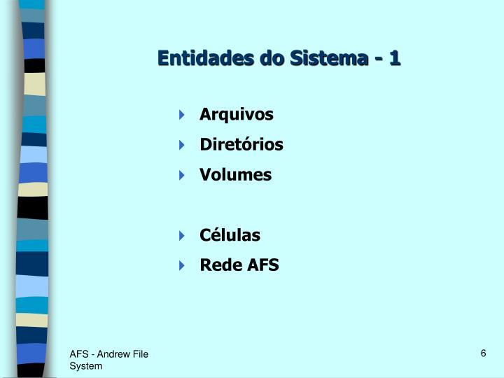 Entidades do Sistema - 1