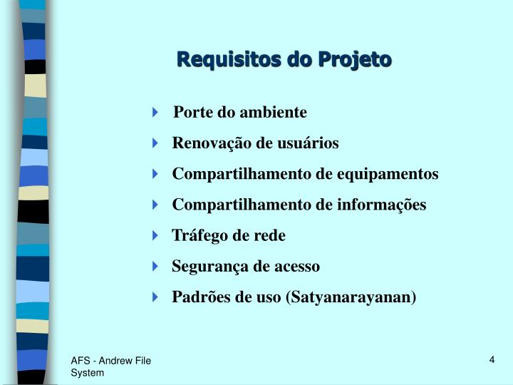 Requisitos do Projeto