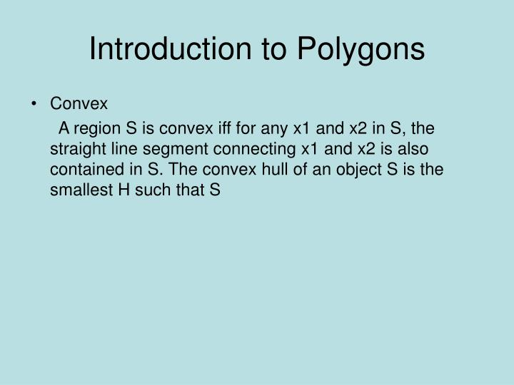 Introduction to Polygons