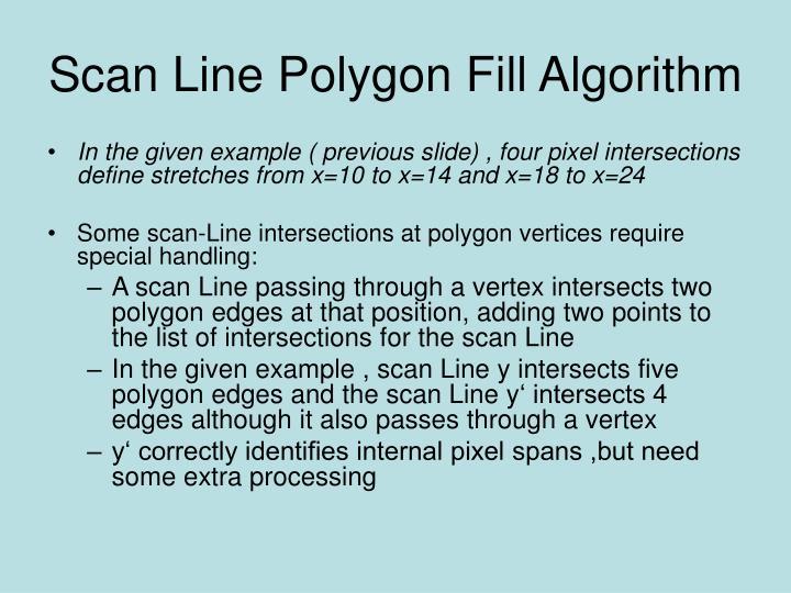 Scan Line Polygon Fill Algorithm