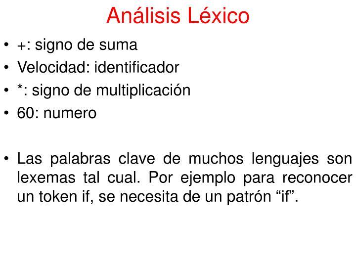 Análisis Léxico