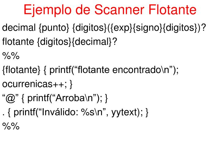 Ejemplo de Scanner Flotante