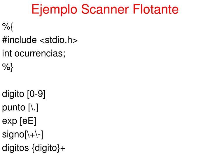 Ejemplo Scanner Flotante