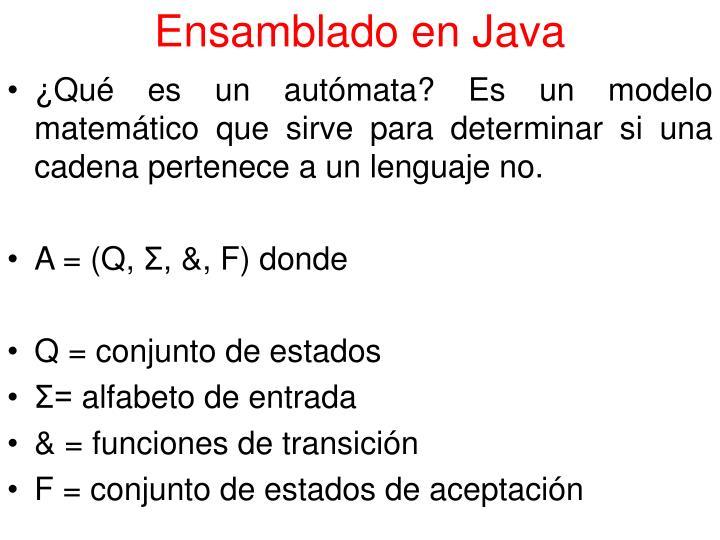 Ensamblado en Java