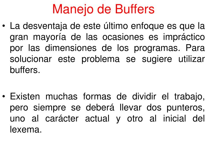 Manejo de Buffers