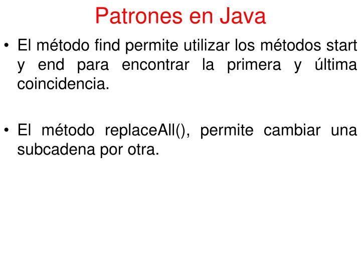 Patrones en Java