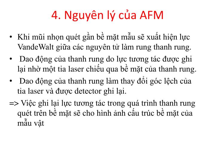 4. Nguyên lý của AFM