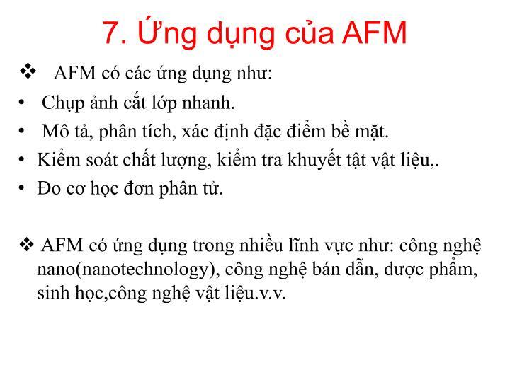 7. Ứng dụng của AFM