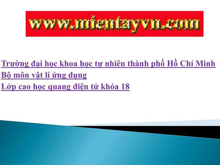 Trng i hc khoa hc t nhin thnh ph H Ch Minh