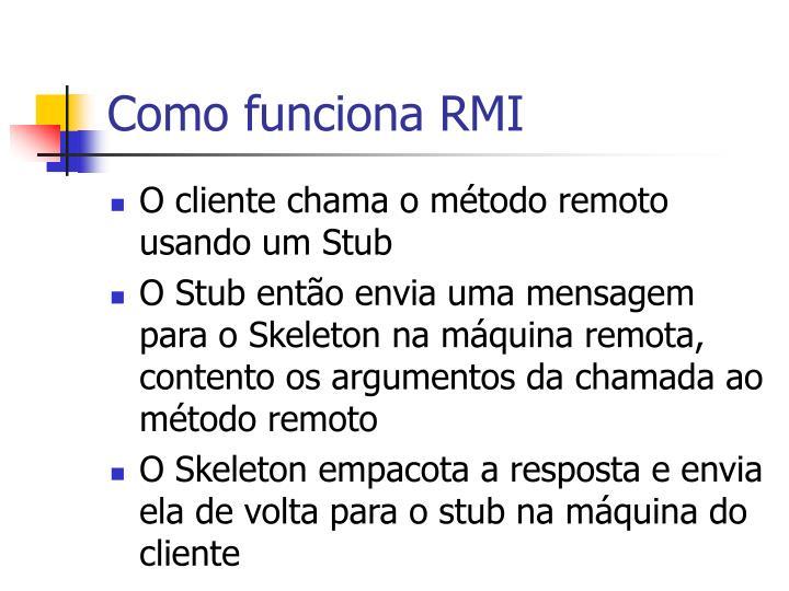 Como funciona RMI