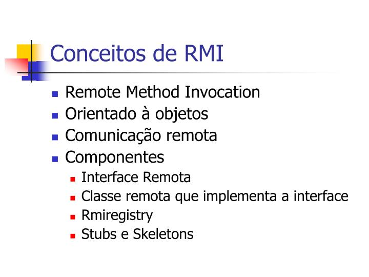 Conceitos de RMI