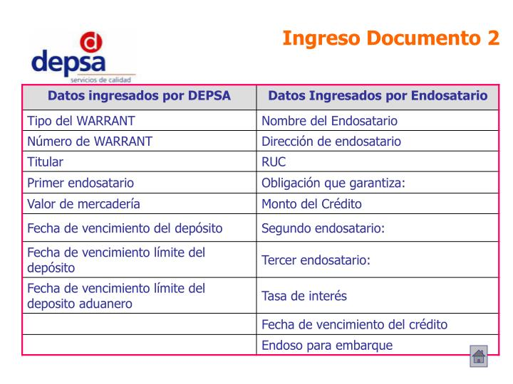 Ingreso Documento 2