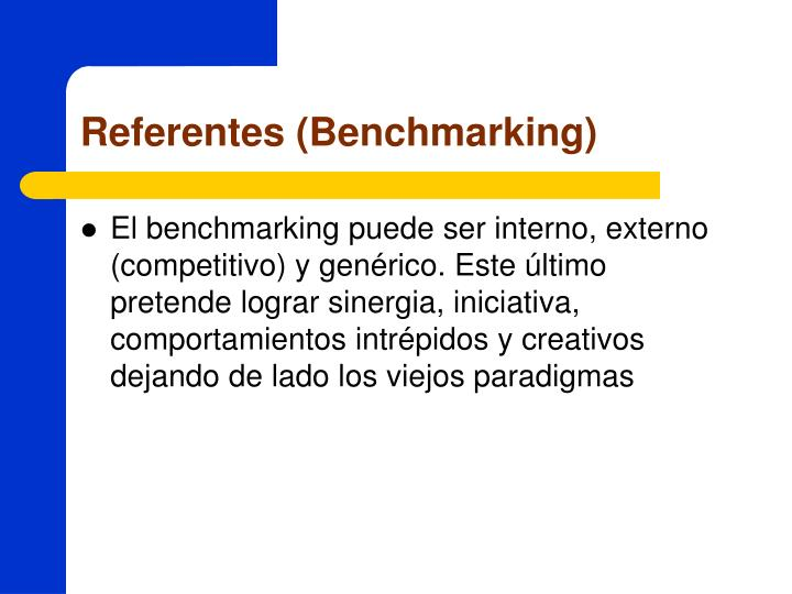 Referentes (Benchmarking)