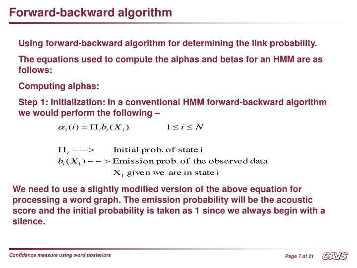 Forward-backward algorithm