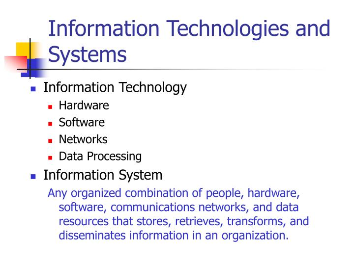 Information technologies and systems