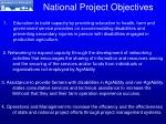 national project objectives